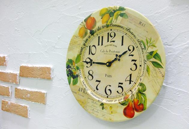 ラッセルズ レトロクロック/フルーツ 掛け時計