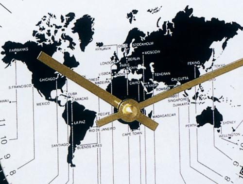 ワールドタイム置き時計